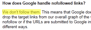 Google doesn't follow nofollow