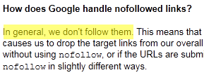 Google Follow No Follow